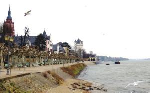 Auch an malerischen Orten kann es zum Flüchten kalt sein: Eltville