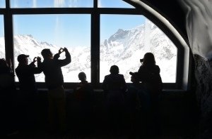 Auf dem Weg zum Jungfraujoch: Zwischenstation am Eismeer
