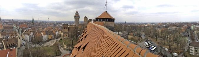 Blick über Nürnberg - gesehen von Jugendherberge Kaiserstallung