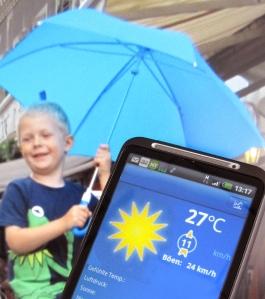 Veräppelt von der Wetter-App? Bild: Anselm Bußhoff