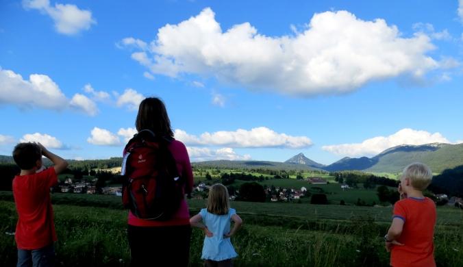 Frankreich Franche-Comté Jougne Wandern Wanderung