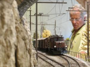Die Welt des Bernhard Tarnutzers: die Modelleisenbahn im Bahnmuseum der Rhätischen Bahn in Bergün.