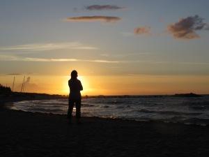 Sonnenuntergang in Schönberg-Kalifornien (Ostsee) - Bild: Anselm Bußhoff