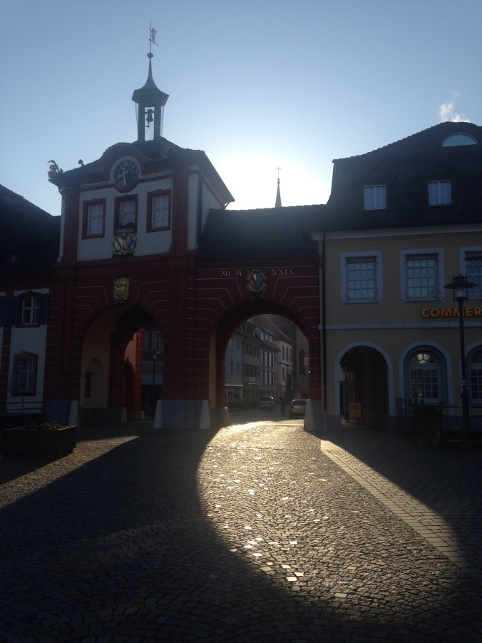 Sonnenspiel am Morgen Emmendingen