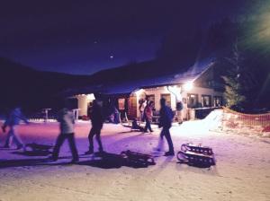 Nächtliches Rodeln im Flutlicht:  am Geißenhof in Feldberg-Altglashütten - Fotos: Ronja Vattes