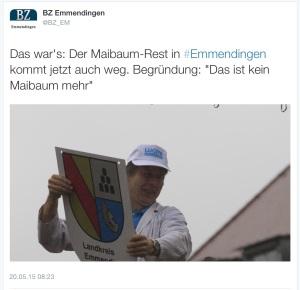 Tweet der BadZtg Emmendingen: https://twitter.com/bz_em/status/600909729322369024