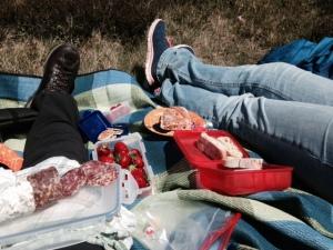 Pausieren, plaudern,  picknicken