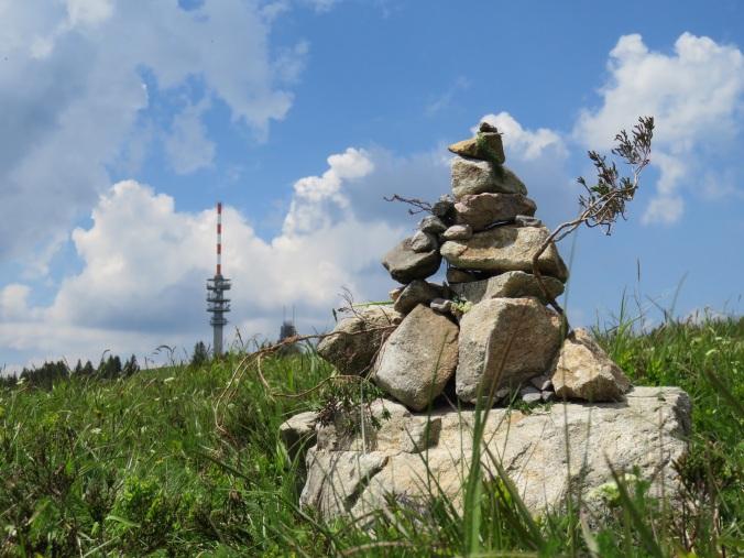 Fundstück: Steinmännchen am Feldberggipfel