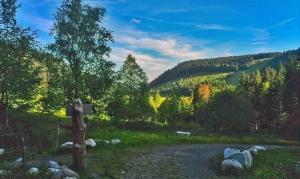 Abendlicher Blick hinab ins Tal von Menzenschwand
