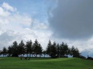 Golfplatz auf der Riederalp - nicht nur eher wirkt fremd in den Erinnerungen.