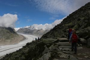 Der Aletsch gilt als der größte Gletscher der Schweiz - doch scheint er viel kleiner als in den Kindheitserinnerungen