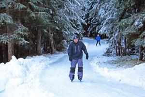 Gleitend durch den Winterwald: Skateline Albula in Graubünden