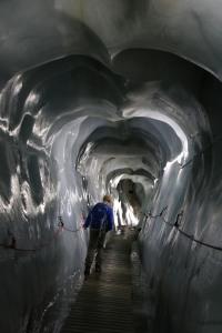 Eisglatt: die Gletscherspalte